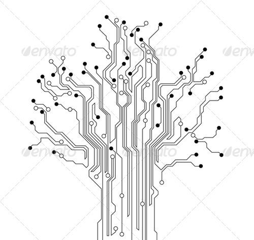 pin circuit board art black lines wallpapers on
