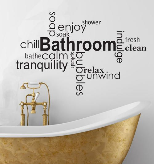 modern bathroom wall art models - Wall Vinyl Designs
