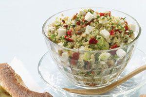 salade de quinoa aux tomates séchées et feta