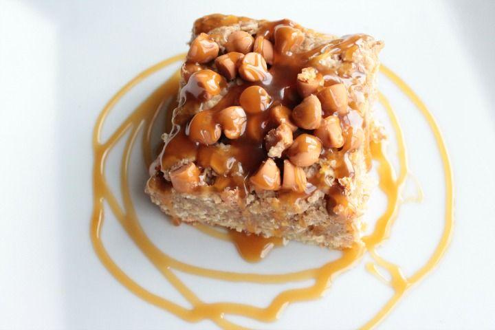 Oatmeal Cookie Dough Blonde Brownies