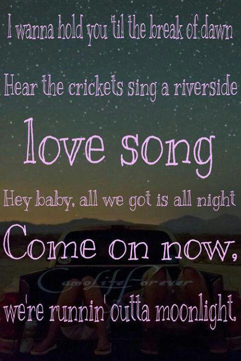 runnin outta moonlight <3 love love looooove this song!