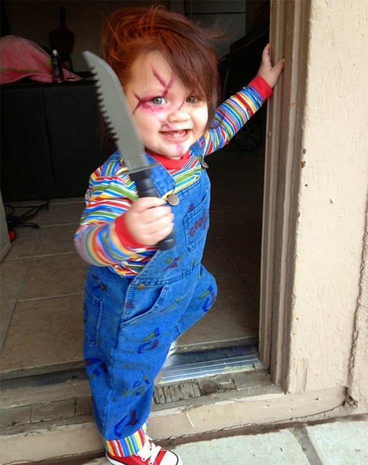 this is terrifying chucky baby halloween costume idea - Simple Toddler Halloween Costumes