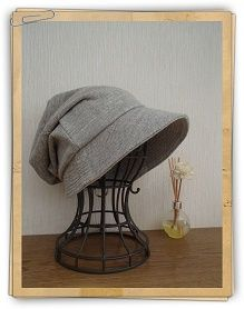 型紙ダウンロード polka drops / まいにち洗える帽子【無料DL】
