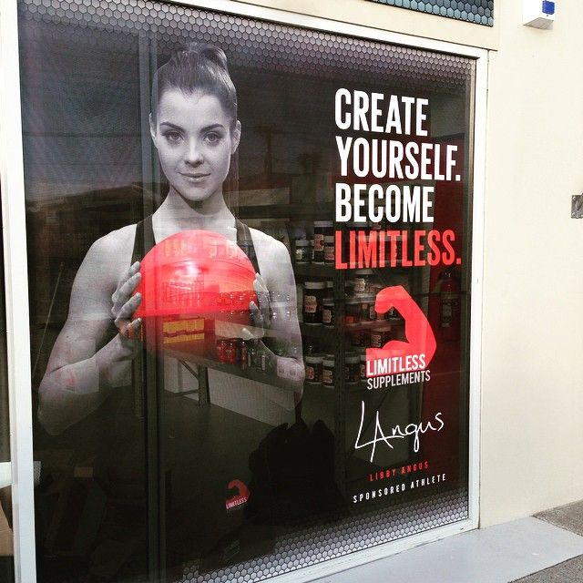 How incredible does @libby_angus look on the front of our store! Things are starting to come together quickly... Super pumped!