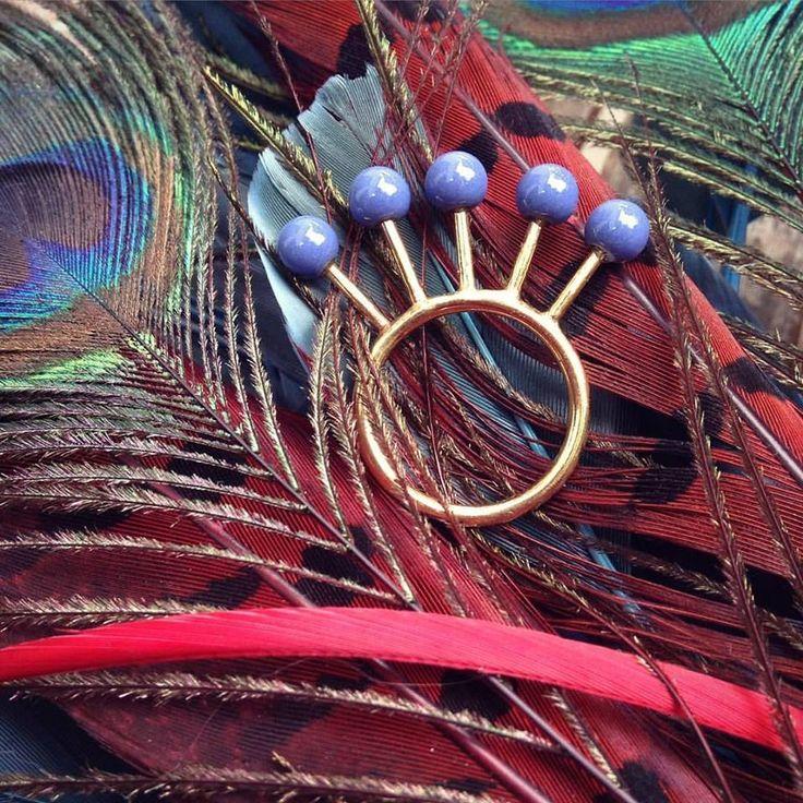 Peacock ring.