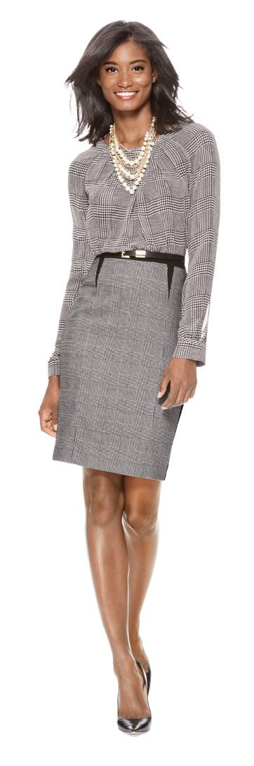 Official Check -  Create this look with our Glen Plaid Layering Blouse, Glen…