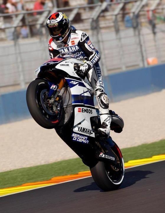 """Jorge Lorenzo """"MotoGP World Champion""""..  He is dialed in fore sure!  I sure have enjoyed seeing that Yamaha running up front!  Makes me proud!"""