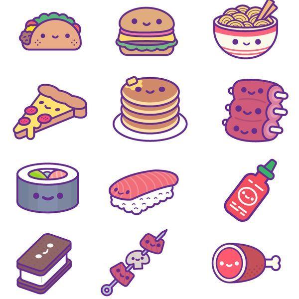 Kawaii Food Party Ios Stickers Food Ios Kawaii Party