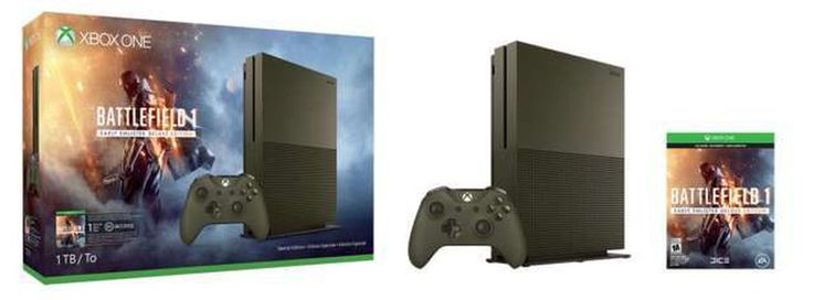 Battlefield 1 Xbox One S bundles on the way HDR support coming through patch     - CNET  Microsoft today announced new Xbox One S bundles themed around EAs Battlefield 1. Microsoft is a co-marketer for the game so the announcement of these bundles come as no real surprise.  The first bundle offers a white 500 GB system with a digital copy of the game for $300. Additionally there will be another 500 GB bundle that comes with a Storm Grey 500 GB Xbox One S and the game. This $300 version will…