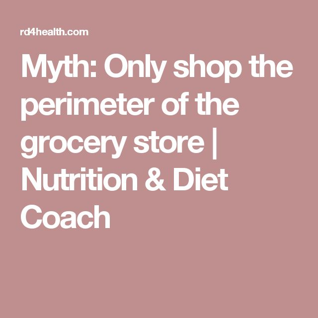 Myth: Only shop the perimeter of the grocery store | Nutrition & Diet Coach