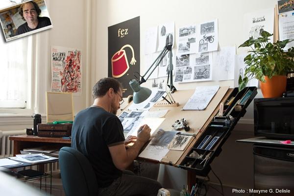 MICHEL RABAGLIATI |   Ma table à dessin : Mon père me l'a offerte quand j'avais dix ans et je travaille encore dessus. Bon achat, Papa!  | Photo: Maxyme G. Delisle