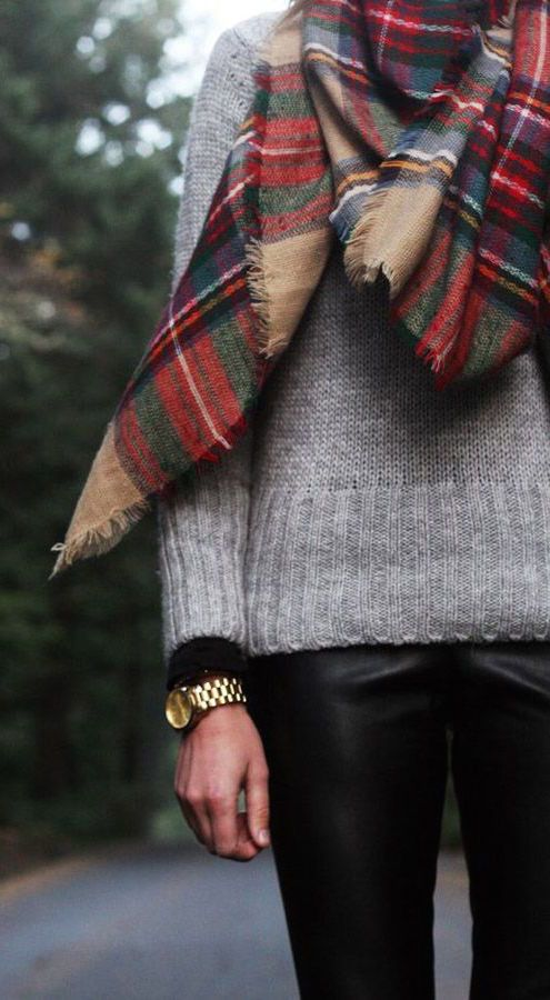 #street #style / knit + scarf: