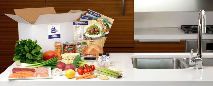 Blue Apron- Fresh ingrediants and recipe cards. Exact amounts just cook and eat.