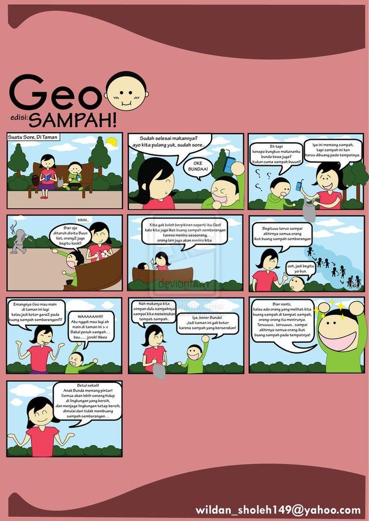 Jangan buang sampah! Komik Bahasa Indonesia, baik untuk mengajar anak tentang lingkungan