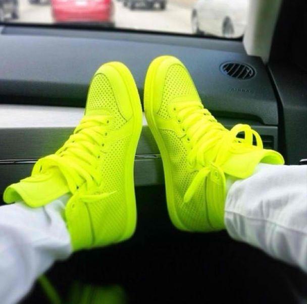 Neon Christian louboutin sneakers ~ pinterest: Kylaa  ♚
