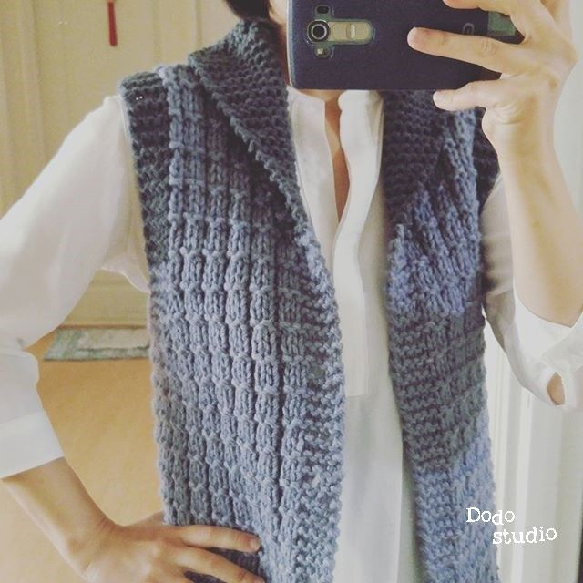 carving vest - free pattern