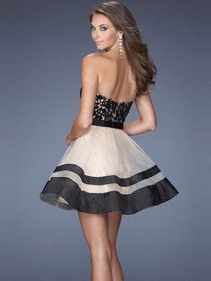 A-line/Stile Principessa Senza Maniche Tulle Cuore Lace Corto / Mini Dresses - Abiti Homecoming - Abiti da Cerimonia