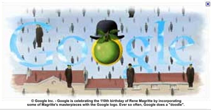 Magritte Google Doodle