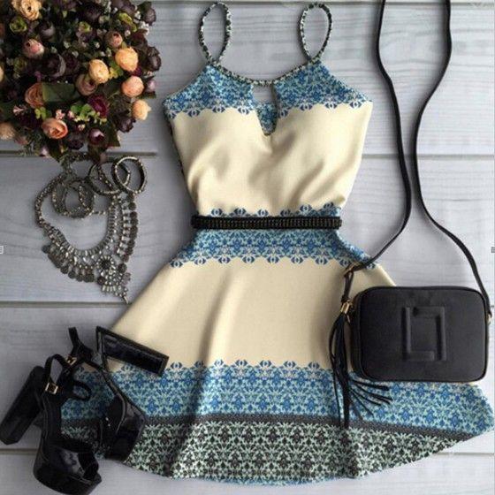 Beige Floral Condole Belt Cut Out Sleeveless Mini Dress