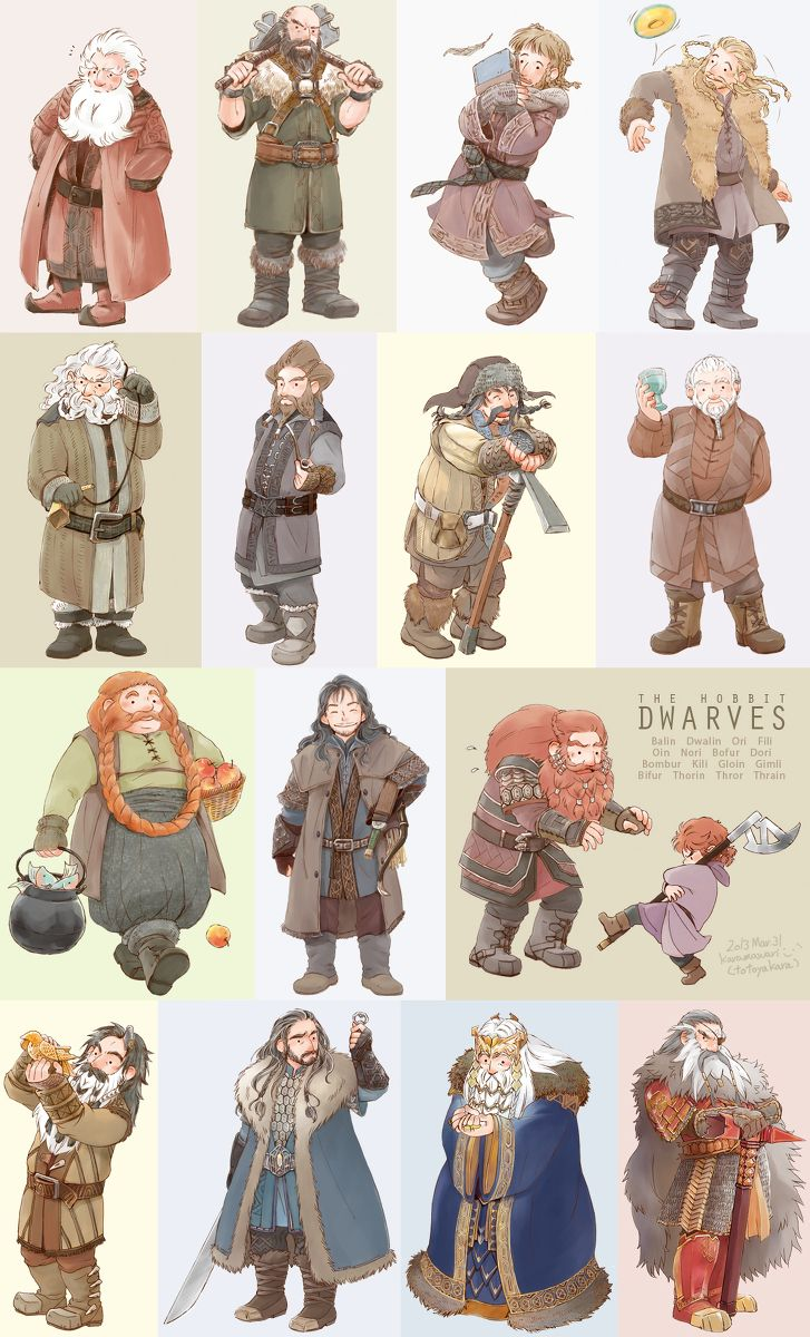 Thorin & Co plus little Gimli :) Ah.... this pin brings back many, many memories... :D