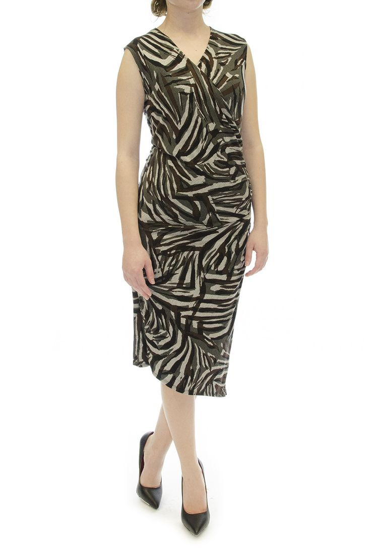 Tracy Reese Multi Color Animal Print Dress