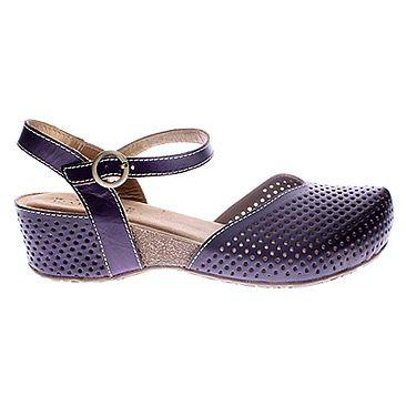 Spring Step Women's Lizzie Clog Shoes (Purple) - M