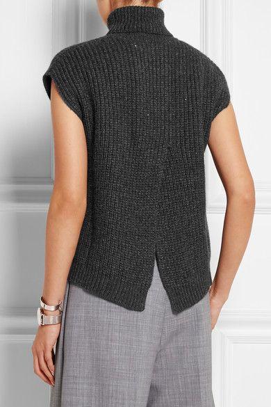 Brunello Cucinelli | Ribbed cashmere-blend sweater | NET-A-PORTER.COM