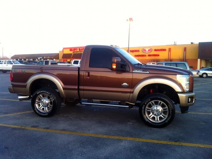 Ford Diesel Pickup Trucks For Sale | Regular cab short bed f350 king ranch h&s def delete