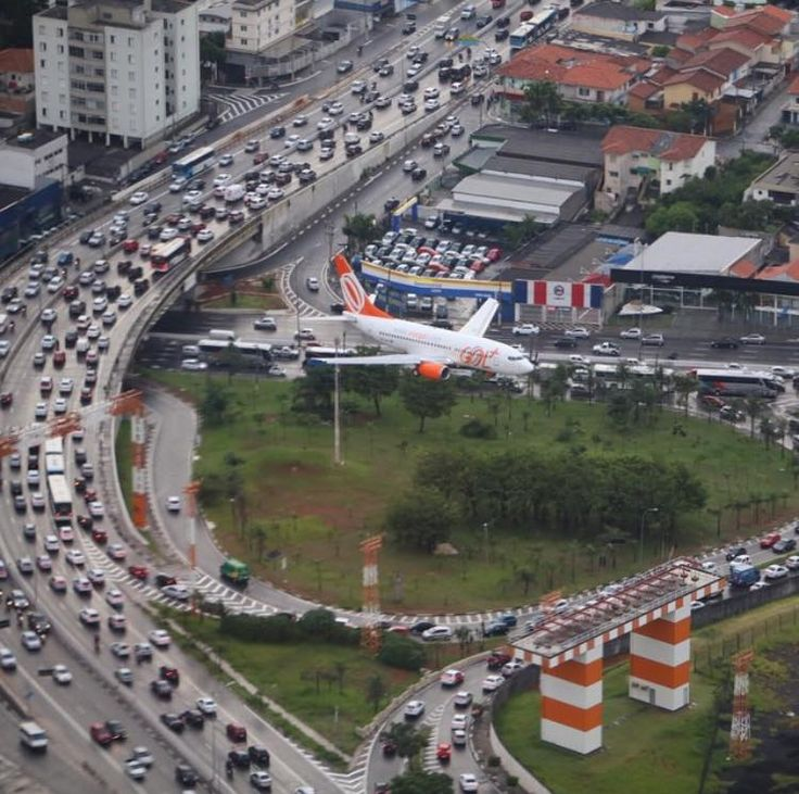 Landing on Congonhas Airport, Sao Paulo.
