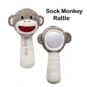 Sock Monkey Baby Rattle