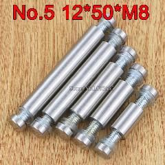 [ $30 OFF ] 200Pcs 12Mm*50Mm*m8 Stainless Steel Double Head Hollow Standoffs Pin Nails Screw Acrylic Advertisement Fixing Screws Glass Nails