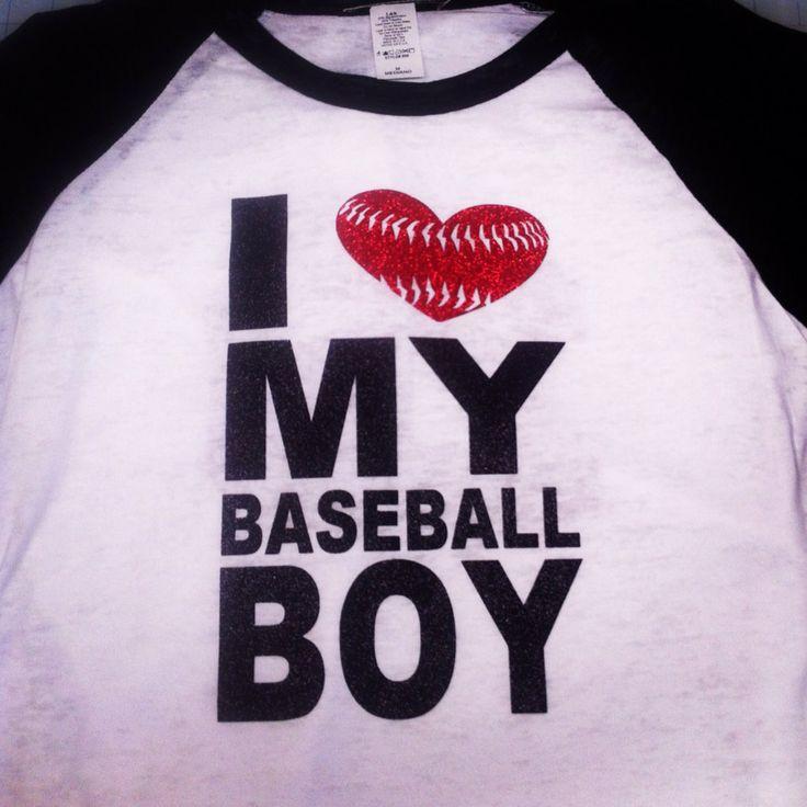 I love my baseball boy custom t shirt by Rocknmamadesigns on Etsy, $28.00