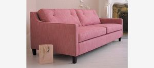 Why We Love Pink and Gray Color Palettes: Pink Sofa Inspiration