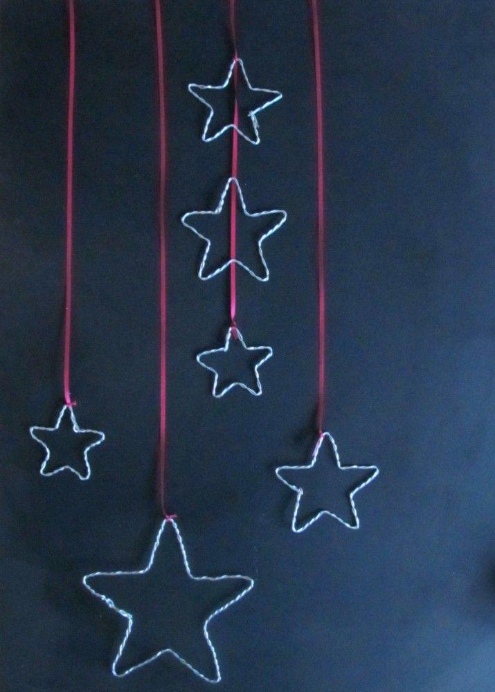 Diese Weihnachtssterne sind schnell gebastelt und kosten praktisch nichts. Ich habe sie bei uns an die Wand gehängt und ein paarmachen sich auch ganz hübsch zwischen Tannenzweigen auf der Fensterbank. Also ran an den Draht! Material: Ihr benötigt einfachen Draht aus dem Baumarkt und eine Zange. Thats it! 1. Den Draht eindrehen. Dies benötigt evtl. …