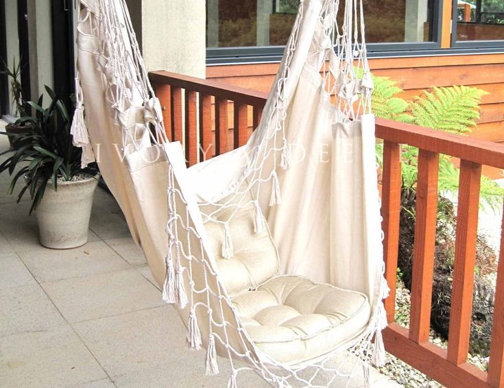 Create A Relaxing Space With This Luxury French Provincial Hammock Chair;  Choose A Tree Or