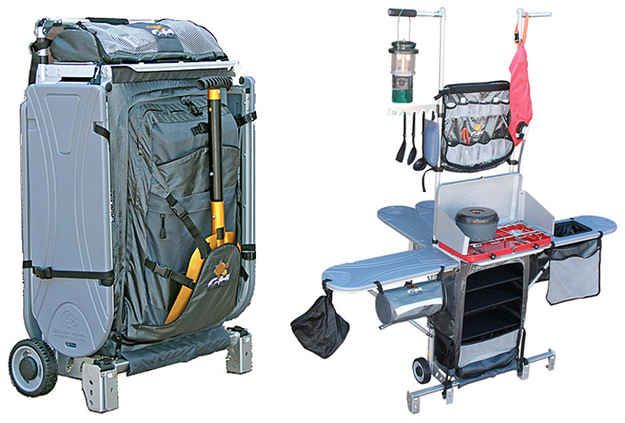Portable Kitchen that Folds Up in a Suitcase | 32 Things You'll Totally Need When You Go Camping