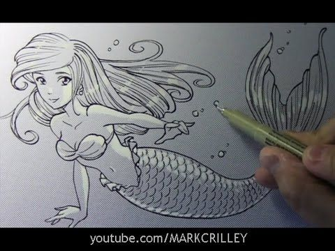 61 best mark crilley images on pinterest draw drawing ideas and drawing time lapse mermaid by mark crilley ccuart Image collections