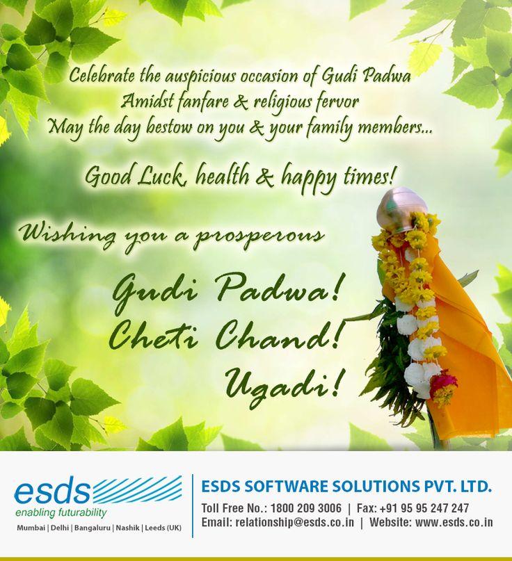 #GudiPadwa #ChetiChand #Ugadi #Greetings from @ESDSDataCenter