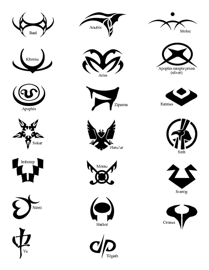 System Lord symbols - Stargate I wish the tee shirt I have would have the free Jaffa symbol on it:/