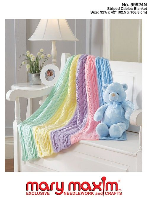 Use this pattern to knit a cabled baby blanket.