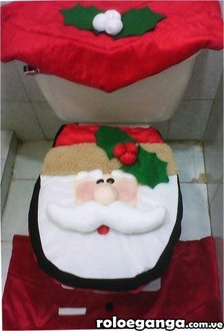 Juego de baño (halloween y navidad) en urdaneta