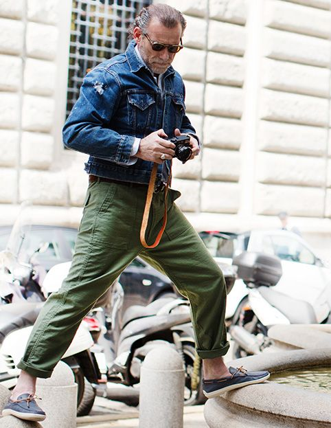 Street style photographer Scott Schuman encounters the Tod's style for Marlin, the Loafer for Him and Her, fruit of Tod's artisanal tradition.