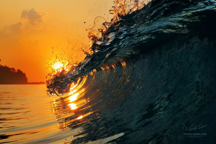Sunset With Sea Wave Tap To See More Breathtaking Beach: 50 Best Nature Wallpapers Images On Pinterest