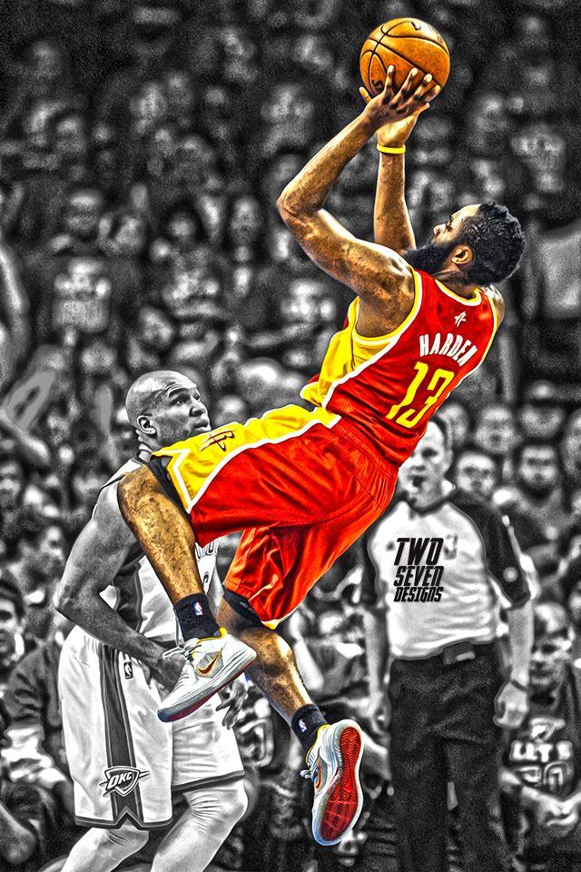 James Harden Rockets Mobile Wallpaper Basketball