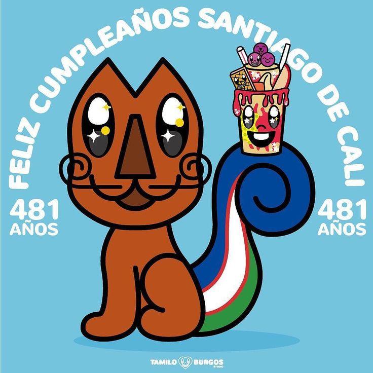 Feliz Cumpleaños Cali Te Amo Infinito!!!  #felizcumpleañoscali #cali481años #calicolombia #SantiagoDeCali #quieroacali #TamiloBurgosStudio