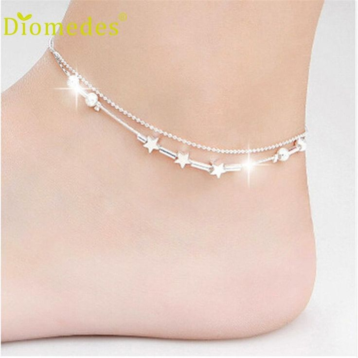 Diomedes Wholesale Elegant Little Star Ladies Chain Ankle Bracelet Barefoot Sandal Beach Foot for leg Dropshipping Dec622 //Price: $US $0.77 & FREE Shipping //     #hashtag1