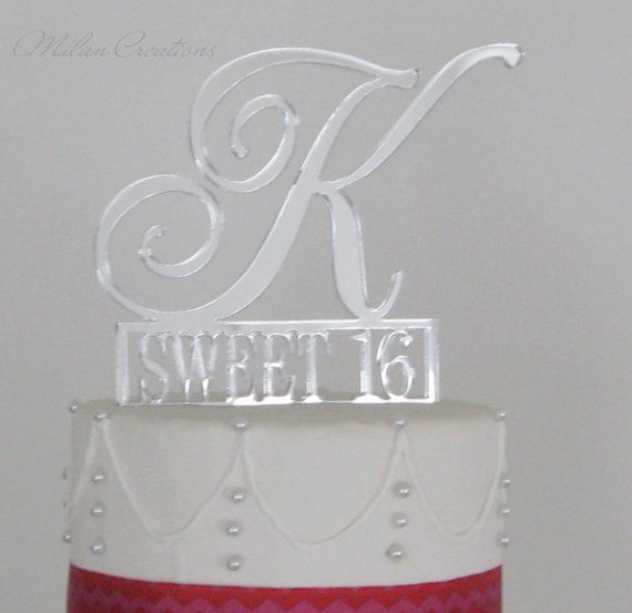 Sweet 16 Birthday Cake Topper by MilanCreations on Etsy, $35.00