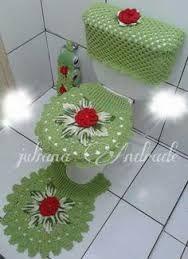 Resultado de imagem para jogo de cozinha de croche verde