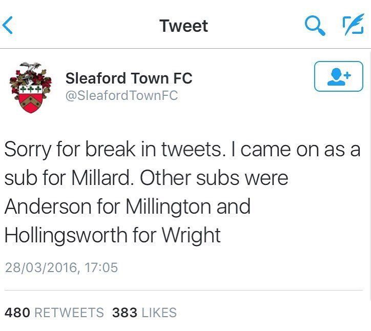 When Sleaford Town decide to bring on the guy who runs the Twitter feed...  by thesportbible