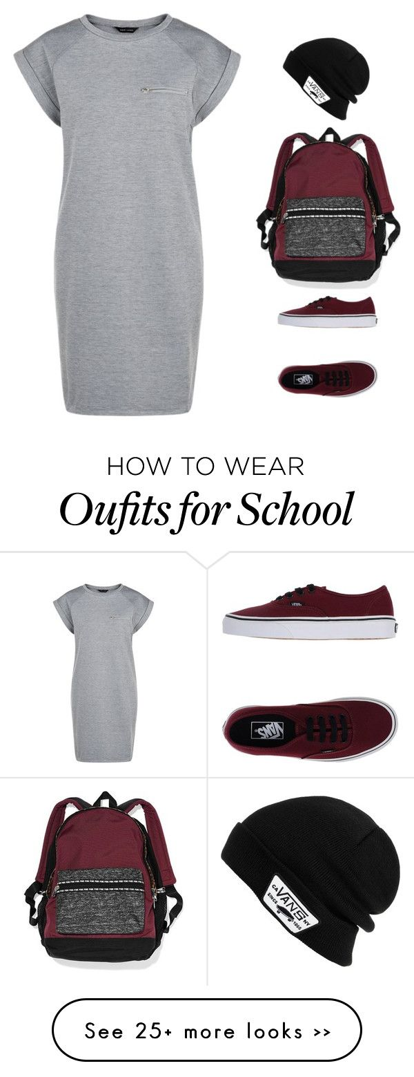 """""""both for school and fall"""" by krissweetheart on Polyvore featuring Vans and Victoria's Secret"""